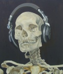 Stephanie Monteith Man with Silver Headphones 2009 oil on linen 56 x 66 cm $ 3,300